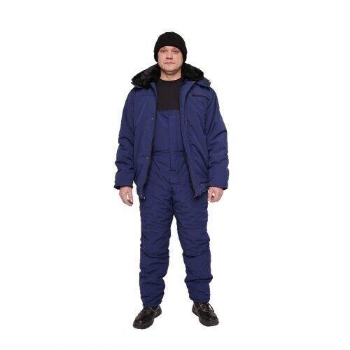 Костюм рабочий утепленный Мастер, куртка с меховым воротником, полуком