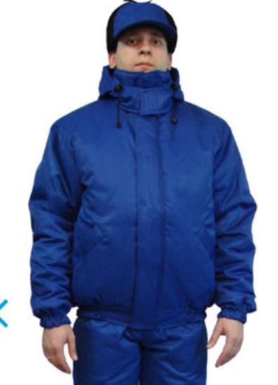 Куртка утепленная на флисе Пилот, цвет василек
