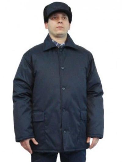 """Зимняя рабочая куртка """"ЕС"""" темно-синего цвета,тк.Грета (ЧШК)"""