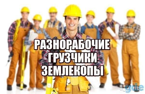 услуги подсобников, разнорабочих, отделочников, землекопов,