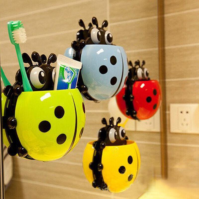 Настенный держатель для зубной пасты и щёток в виде божьей коровки