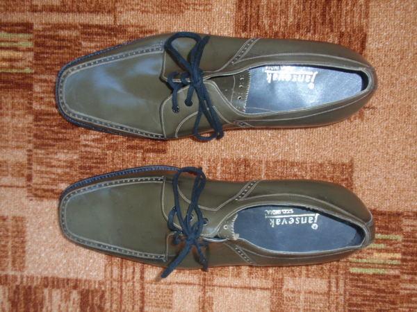 Продам мужские кожаные серо-коричневые туфли