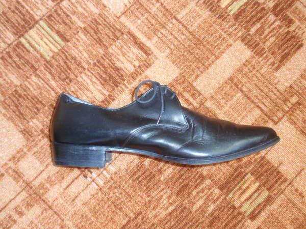 Продам мужские кожаные черные туфли