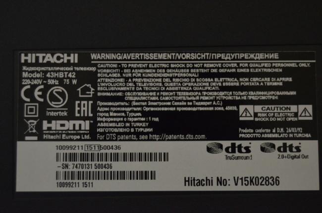Фото 3 - Телевизор HITACHI 43HBT42 LED SMART FullHD!