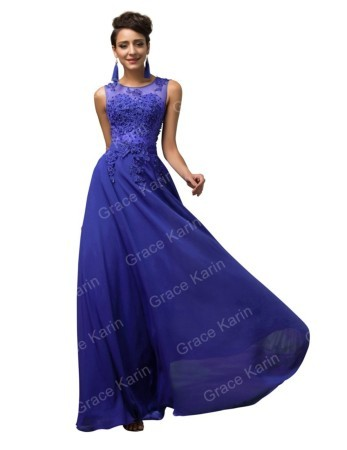 26f0e539094 Синее выпускное платье в пол купить Украина.  3 200 грн. - Платья ...