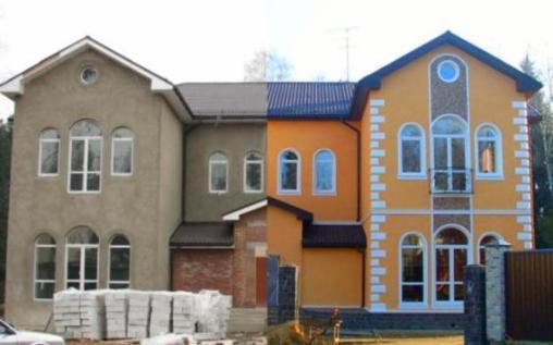 Короед, шуба, покраска фасада. Фасадные работы с гарантией.