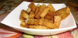 Фото - сухой хлеб на корм, чипсы картофельные на корм для животных