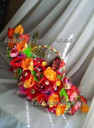 Подарки, букет из конфет, цветы женщинам, весна!