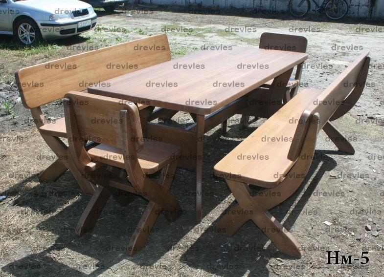 Набор мебели для дома, дачи, сада (стол, скамейки, стулья)