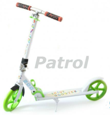 Самокат Patrol двухколесный scooter колеса 200мм