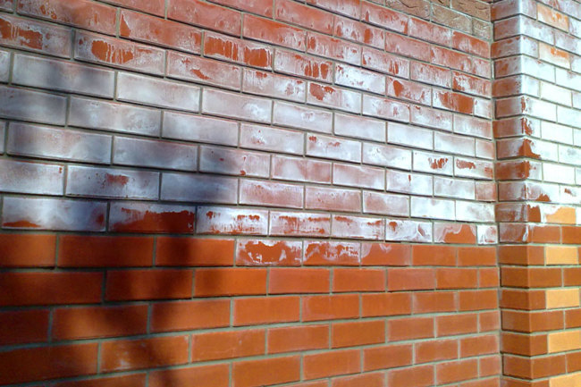 Фасад из клинкера: откуда появились высолы?