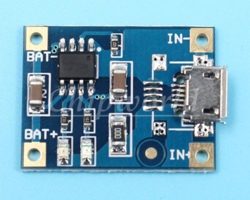 Фото - USB Зарядное устройство для Li-On аккумуляторов 18650 TP4056 1A