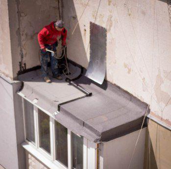 Кровля балкона последнего этажа Харьков