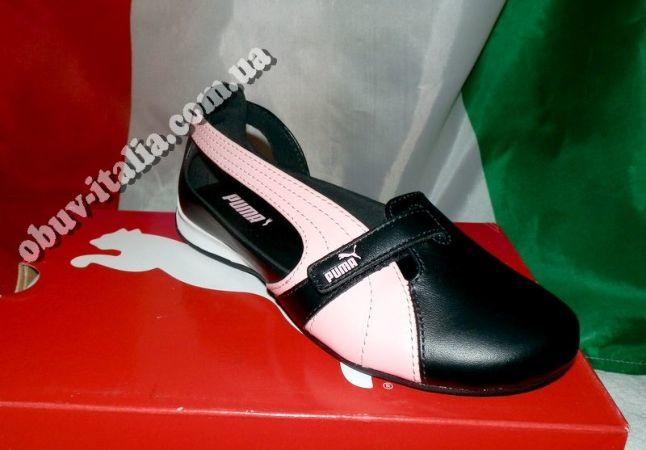 Туфли-балетки детские кожаные PUMA из Италии