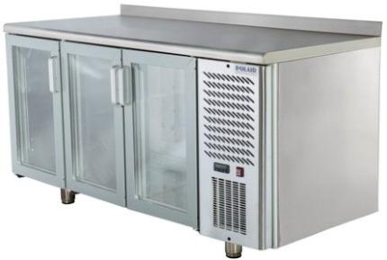 Холодильные столы со стеклянными дверями для бара