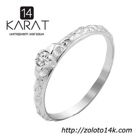 Золотое кольцо с бриллиантом 0 ff40f3b24cd34