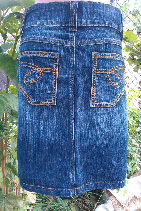 Фото 2 - джинсовая юбка