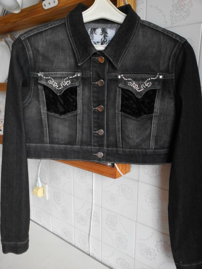 Куртка джинсова коротка нова  225 грн. - Куртки Київ - оголошення на ... 318b0b8fbe5e7