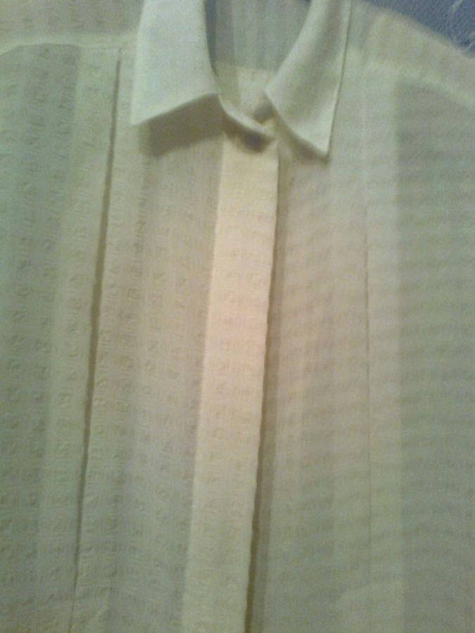 Фото 3 - Красивая рубашка с коротким рукавом, сзади - кокетка со складкой