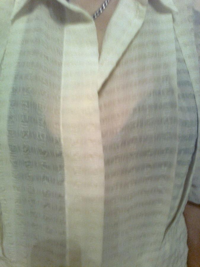 Фото 4 - Красивая рубашка с коротким рукавом, сзади - кокетка со складкой