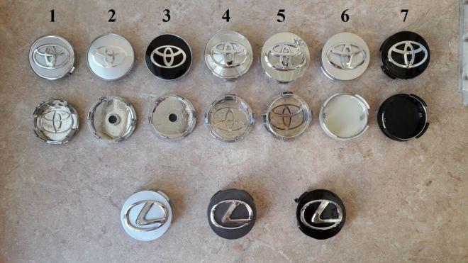 Ступичные колпачки на диски (заглушки в диски) Toyota