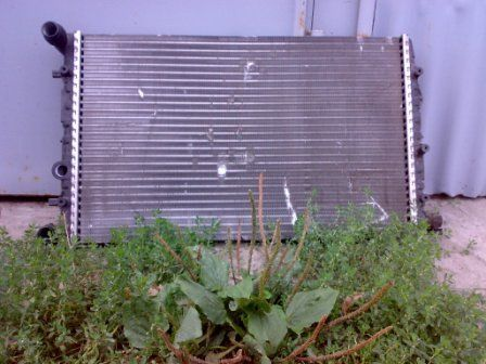 Фото - Радиаторы системы охлаждения на  Skoda Fabia.