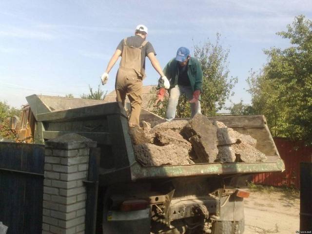Вывоз мусора Днепрпетровск, погрузка мусора, услуги грузчиков