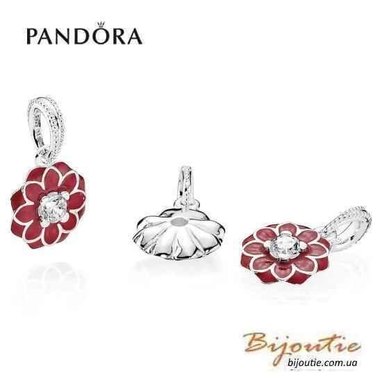 Фото 2 - Оригинал Pandora шарм Восточный Цветок 791829CZ серебро 925