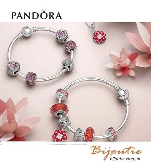 Фото 3 - Оригинал Pandora шарм Восточный Цветок 791829CZ серебро 925