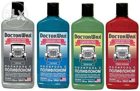 Цветные полироли с полифлоном Doctor Wax