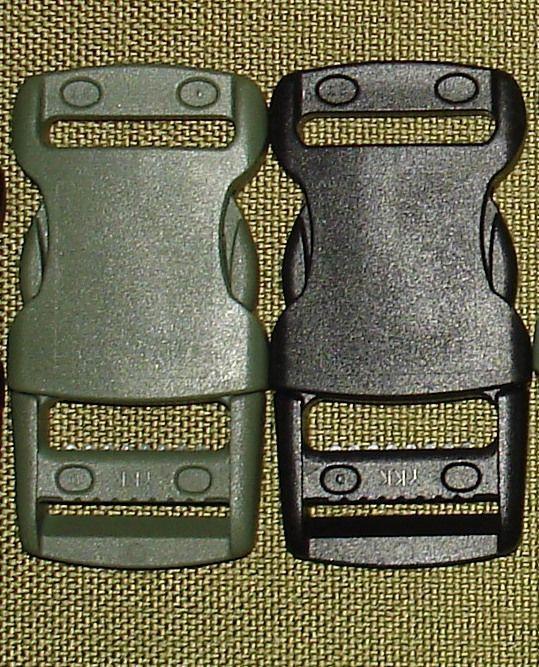 Пряжки Фастексы YKK 25 мм LB25R (черный, олива)