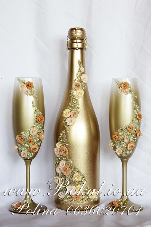 Фото 7 - Свадебное шампанское, шампанское на свадьбу, декор бутылок