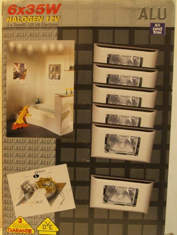 Фото 2 - Набор встроенных светильников Paulmann, на 6 точек,квадратные, металл