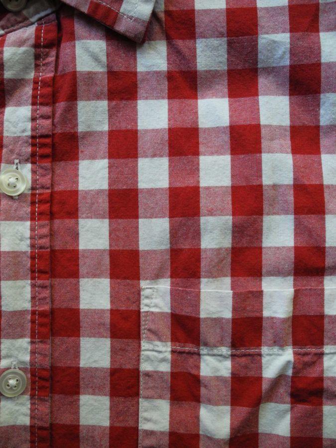 Фото 7 - Мужская рубашка в клетку красная яркая George L