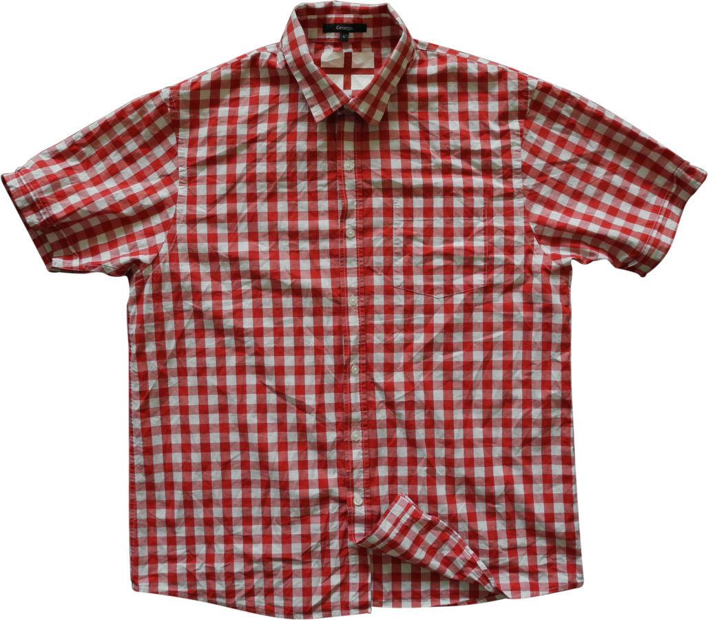 Фото - Мужская рубашка в клетку красная яркая George L