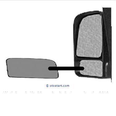 Фото - Стекло (вкладыш) зеркала нижнее,верхнее Ford connect