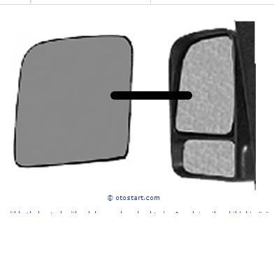 Фото 6 - Стекло (вкладыш) зеркала нижнее,верхнее Ford connect