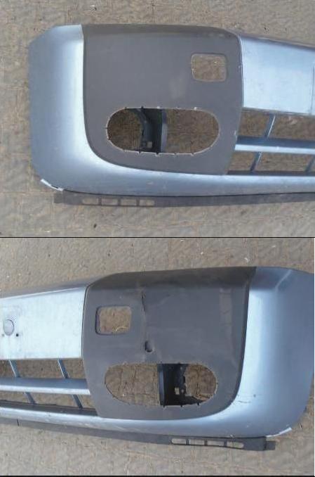 Фото 4 - Накладка на бампере под галогенку Ford Connect 2006-