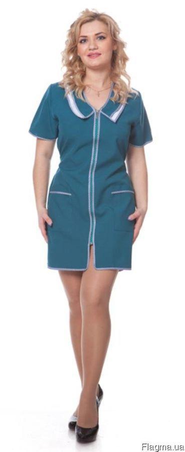 """Фото - Халат женский """"Мода"""", продавцов, халаты для сферы обслуживания"""