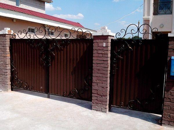 Фото 4 - Качественные ворота из профнастила