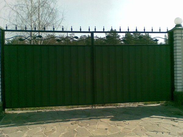 Фото 6 - Качественные ворота из профнастила