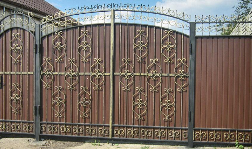 Фото 5 - Качественные ворота из профнастила