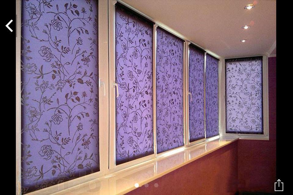 Купить рулонные шторы для балкона, цены, фото, не дорого.
