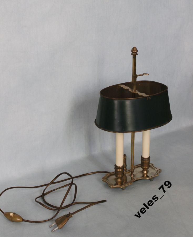 Фото 5 - Лампа кабинетная, бронза, Франция 1920-е годы
