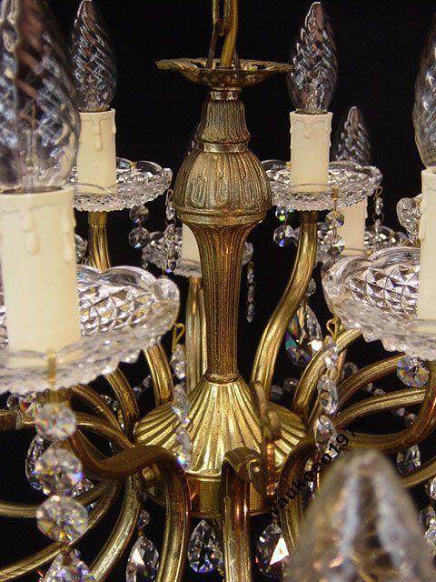 Фото 6 - Французская хрустальная люстра, 18 ламп, 1930-е годы