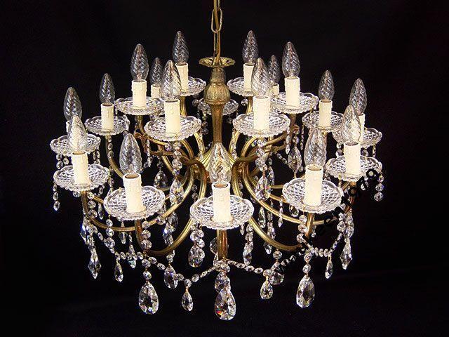 Фото 5 - Французская хрустальная люстра, 18 ламп, 1930-е годы