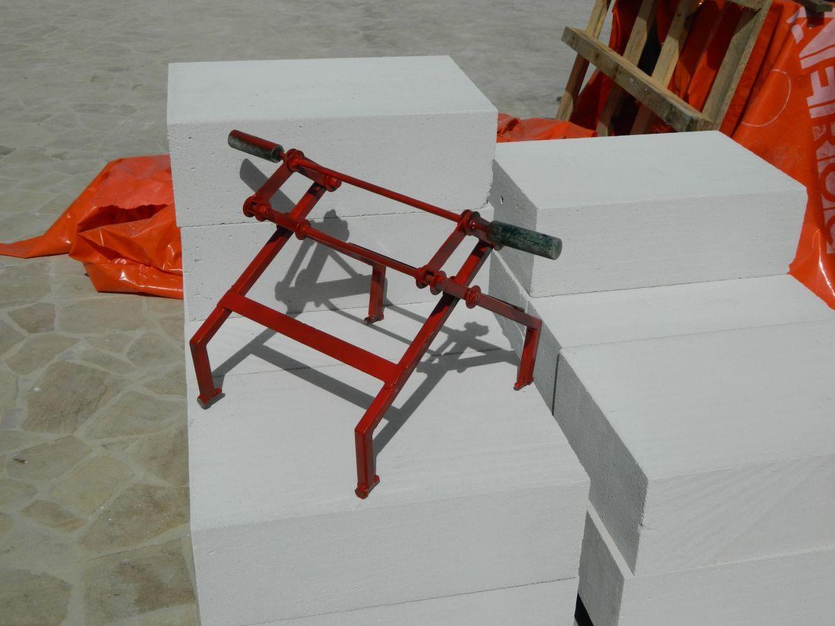 Захват для переноски газобетонных блоков