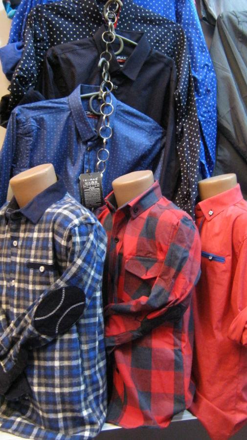 Рубашки однотонные,короткий рукав, (длинный рукав)