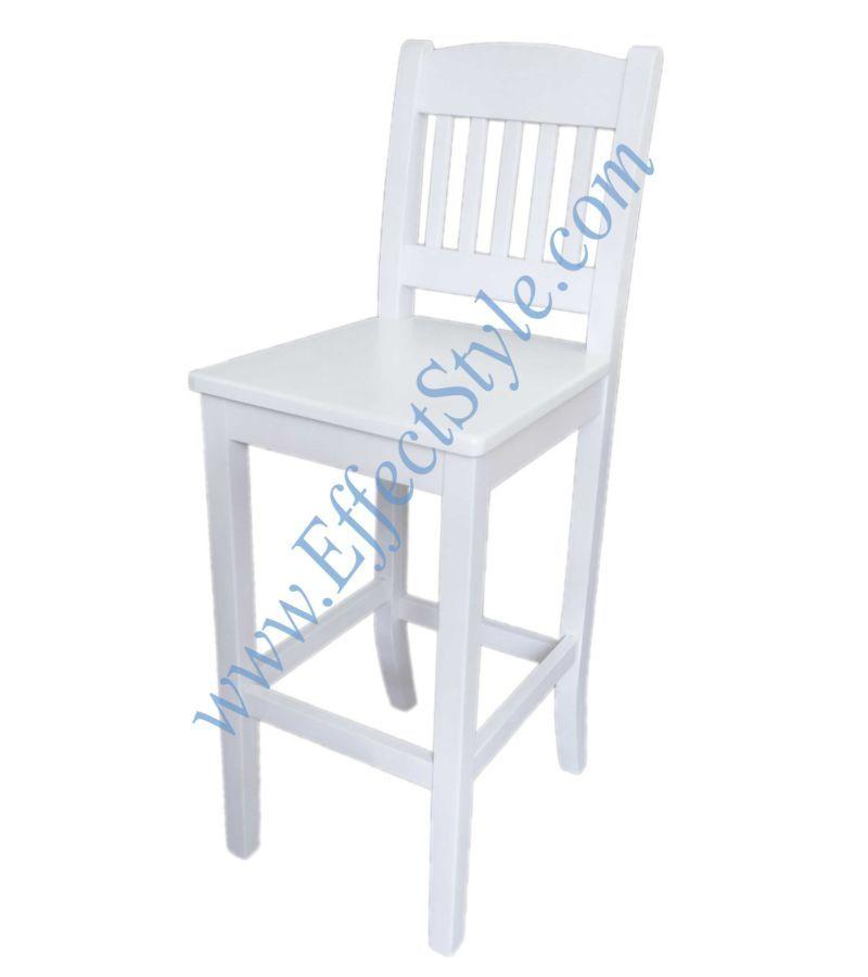 Фото - Барный стул белый деревянный Elegant White