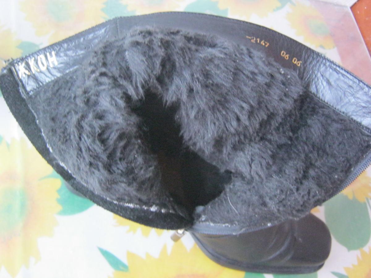 Фото 3 - Полусапоги (сапожки). Размер 40-41, натур.кожа